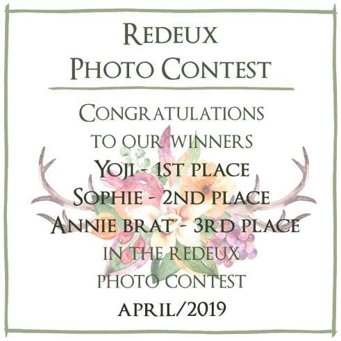 Photo Contest April 2019 - Winners