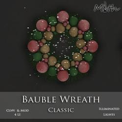 Myth - Bauble Wreath Classic