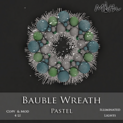 Myth - Bauble Wreath Pastel
