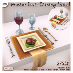 Velvet Whip - Winterfest Dining Set