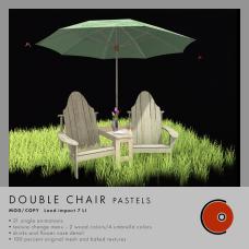 CONVAIR - Double Chair pastels AD