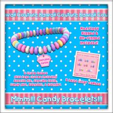 Kawaii Couture Candy Bracelets - Cupcake Ad