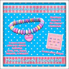 Kawaii Couture Candy Bracelets - Heart Ad